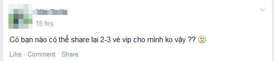 Fan nháo nhào tìm vé trên cộng đồng mạng