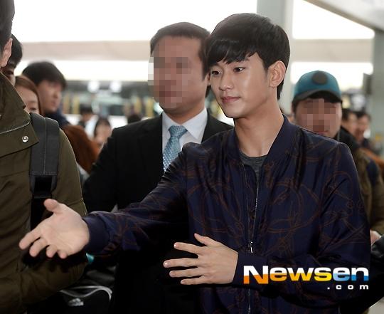 Hình ảnh của Kim Soo Hyun tại sân bay Incheon sáng nay 3/4