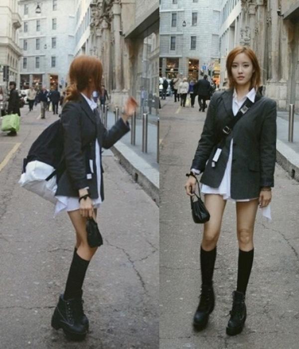 Những bộ trang phục street style của cô nàng rất được các fan yêu thích, thành viên T-ara là cái tên quen thuộc của những tạp chí và sự kiện thời trang lớn.