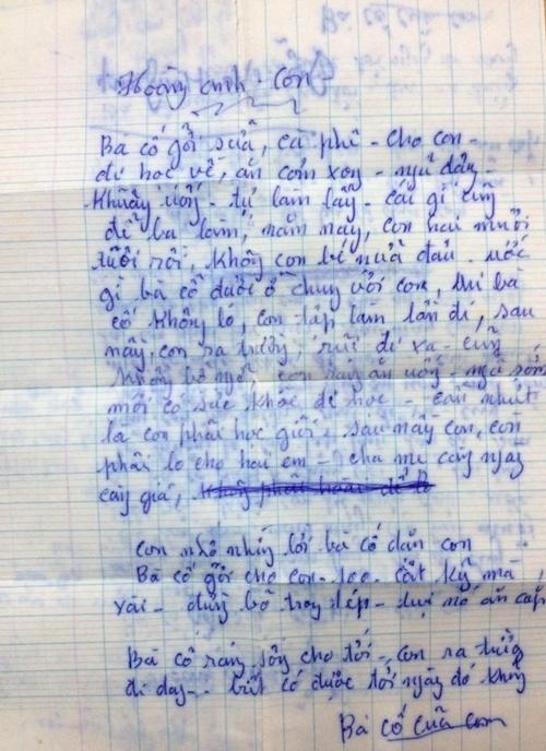 Bức thư bà cố gửi chàng trai 20 tuổi
