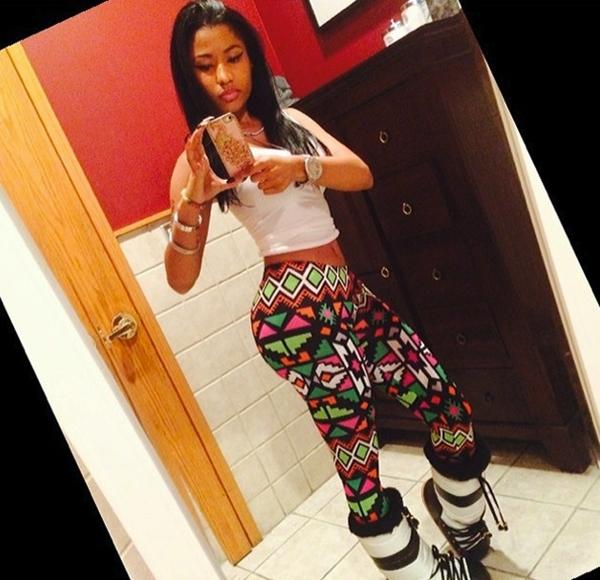 Đây là cách Nicki Minaj ăn mặc cho những ngày tuyết rơi.