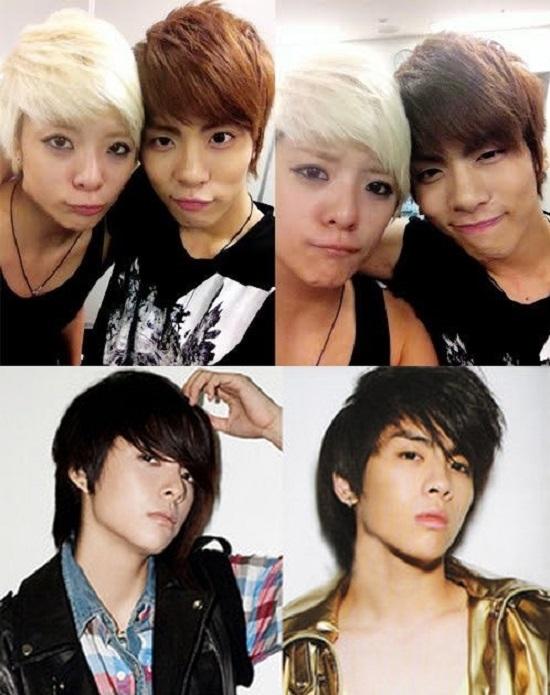 Cô nàng tomboy Amber của F(x) khá giống anh em sinh đôi với Jong Hyun (SHINee).