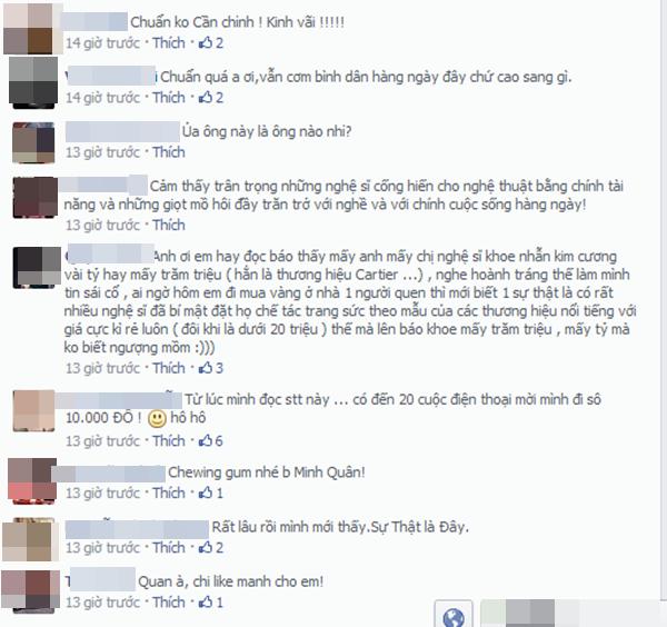 Những ý kiến từ khán giả về chuyện Minh Quân và Bá Thắng.