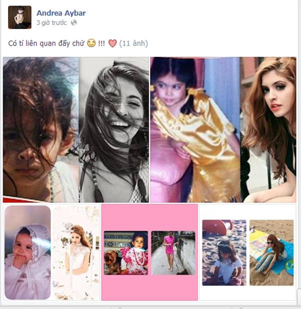 Hình ảnh và dòng chú thích mà Andrea đăng tải trên trang cá nhân