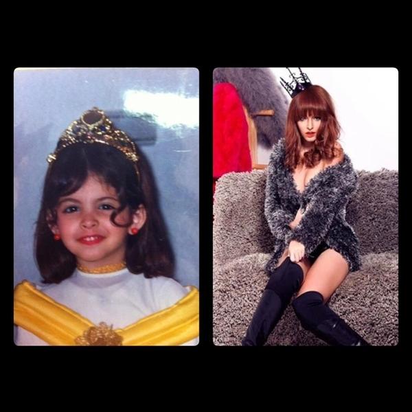 Hay cùng đội một chiếc vương miện công chúa. Nhưng với hình ảnh này, mọi người lại có vẻ thích hình ảnh đội vương miện của Andrea khi còn bé hơn.