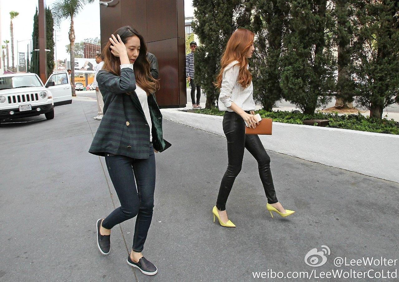 Một số hình ảnh của Jessica và Krystal tại Los Angeles