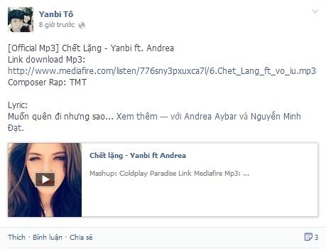Andrea khoe tài đọc rap Việt trong ca khúc mới của Yanbi