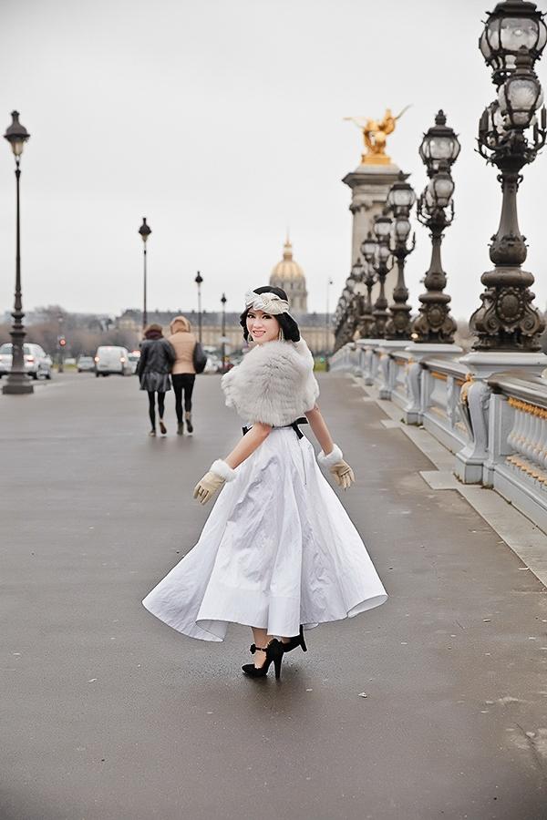 """Lý Nhã Kỳ hóa thành """"công chúa Phương Đông"""" trên đất Pháp - Tin sao Viet - Tin tuc sao Viet - Scandal sao Viet - Tin tuc cua Sao - Tin cua Sao"""
