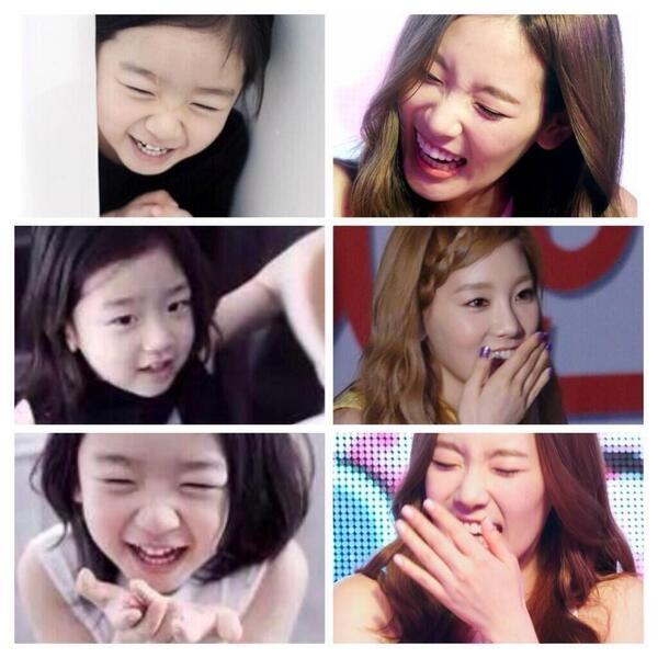 Những hình ảnh giống nhau như đúc của cậu bé và Taeyeon