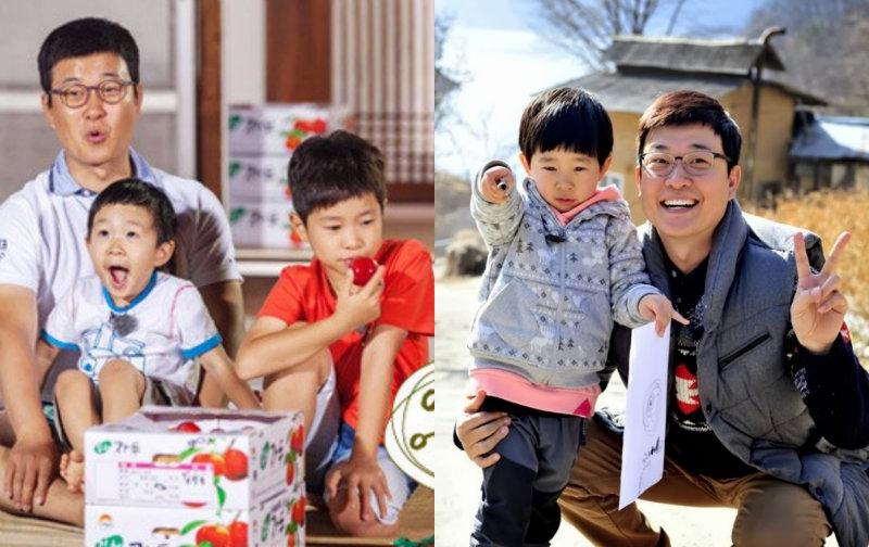 Nghệ sỹ Kim Sung Joo cùng hai cậu con trai kháu khỉnh là Kim Min Yool và Kim Min Gook