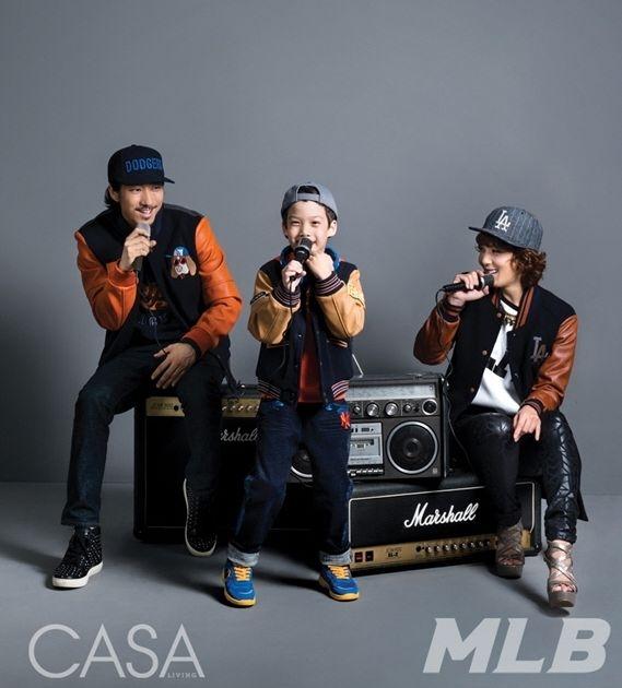 Cặp đôi ngôi sao Hiphop Tiger TK và Yoon Mi Rae cùng con trai của họ Jordan