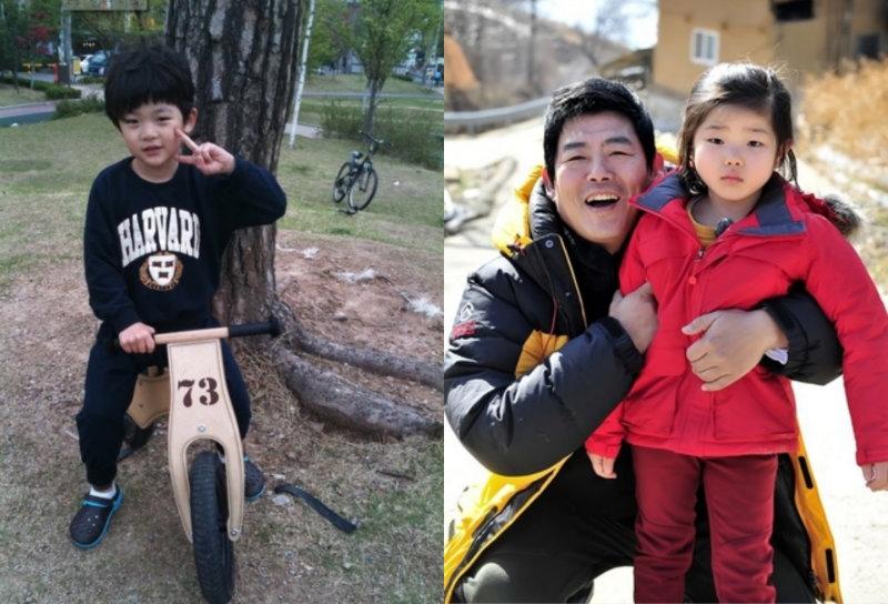 Nam diễn viên Sung Do Il cùng con trai Joon và con gái Bin.