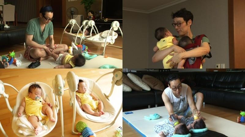 MC Lee Hwi Jae cùng cặp song sinh đáng yêu Seo Joon và Seo Eon.