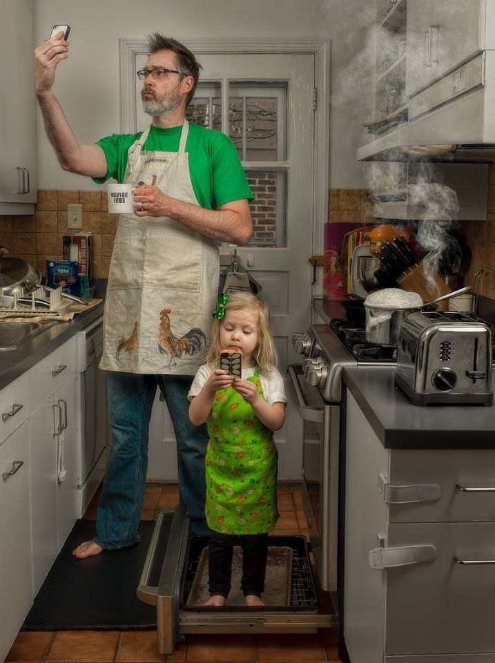 Ngộ nghĩnh bộ ảnh của cha và con gái 3 tuổi dễ thương như thiên thần