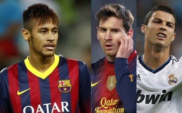 Ronaldo, Messi và Neymar đụng độ nhau ba lần mùa này.