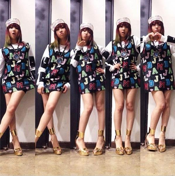 Minzy đăng tải hình trong hậu trưởng buổi chụp ảnh cho tạp chí Nylon