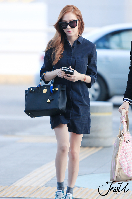 Hình ảnh Jessica tại sân bay Incheon để lên đường sang New York vào chiều ngày 8/5