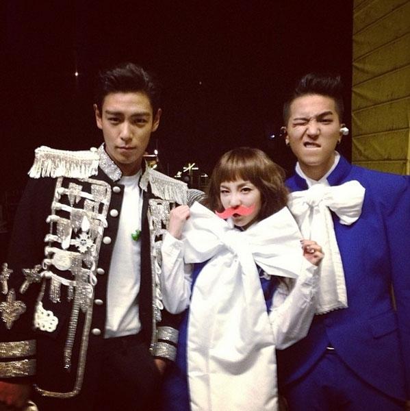 Daranhí nhố bên hai chàng trai đẹp G-Dragon và T.O.P