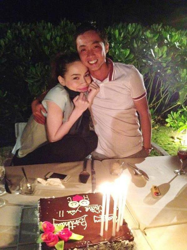 """Hồ Ngọc Hà và Quốc Cường khi đang trong giai đoạn yêu nhau, nữ ca sĩ rất ngọt ngào khi mừng sinh nhật người yêu với lời chúc: """"Happy Birthday chồng yêu"""""""