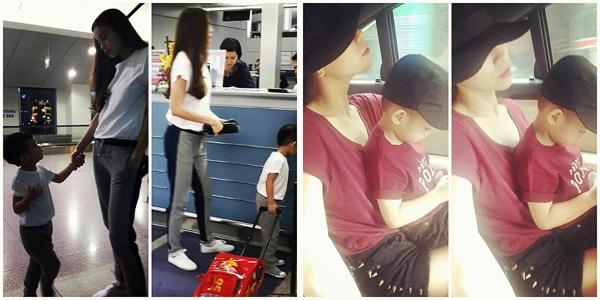 """Subeo được mẹ Hà cho diện đồ thời trang """"couple"""" với mẹ và thường được mẹ gọi yêu là """"anh ấy"""""""