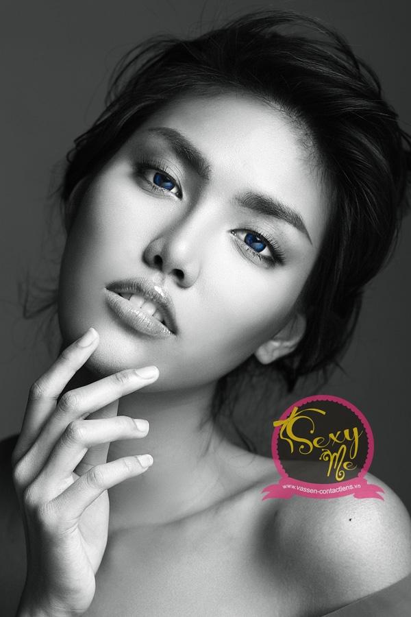 Giải vàng siêu mẫu Việt Nam 2013 Lan Khuê đẹp hút hồn cùng Contact Lens Vassen