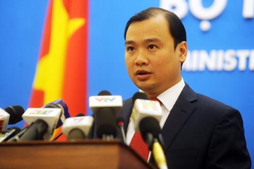 Người phát ngôn Bộ Ngoại giao Việt Nam Lê Hải Bình. Ảnh: Quý Đoàn.