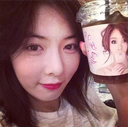 HyunA đăng hình tự sướng cực xinh