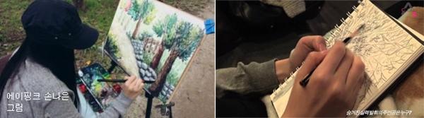 """Các bức vẽ """"cộp mác""""Naeun Apink"""