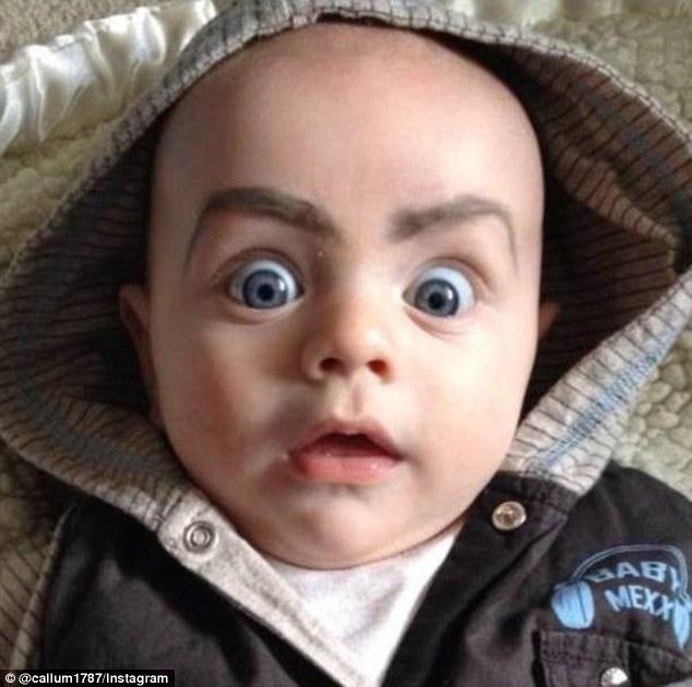 Trào lưu vẽ lông mày kì lạ cho em bé