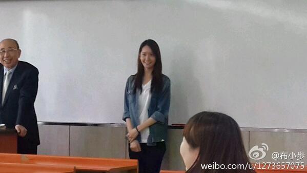 Phát sốt với hình ảnh siêu thân thiện của Yoona tại trường học