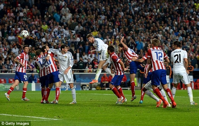 Khi những người Atletico chuẩn bị ăn mừng chiến thắng, Ramos đã ghi bàn gỡ hoà ở phút 90+3