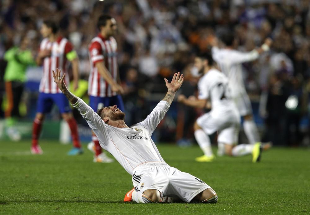 Cảm xúc phấn khích của Ramos...