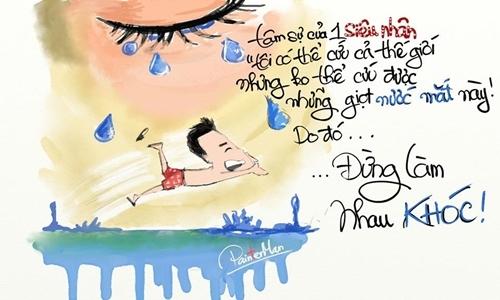 Chàng trai quần cộc gây sốt trong loạt tranh vẽ cực yêu