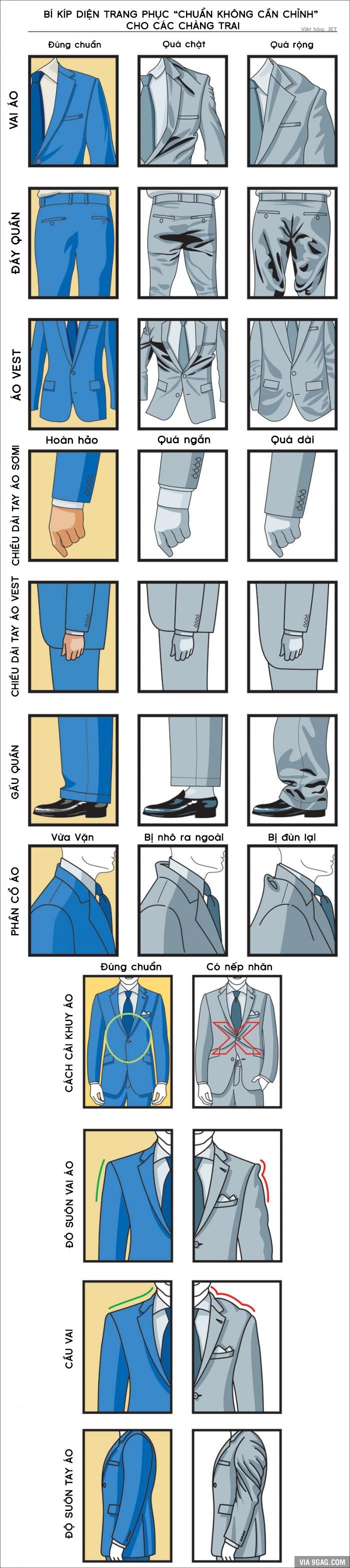 [Bạn biết chưa] Bí kíp giúp các chàng diện trang phục chuẩn không cần chỉnh