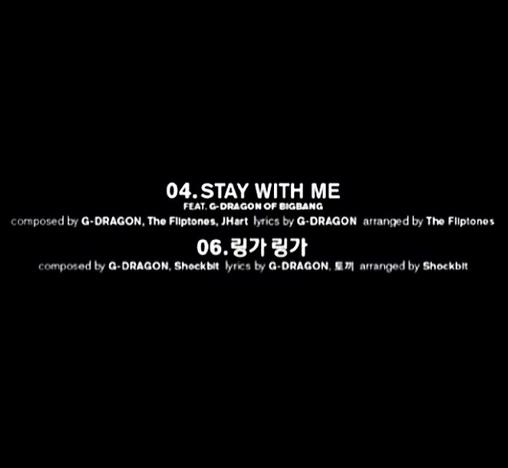 Bên cạnh đó, G-Dragon khoe tracklist trong album của Taeyang có tên của mình ở vị trí viết lời