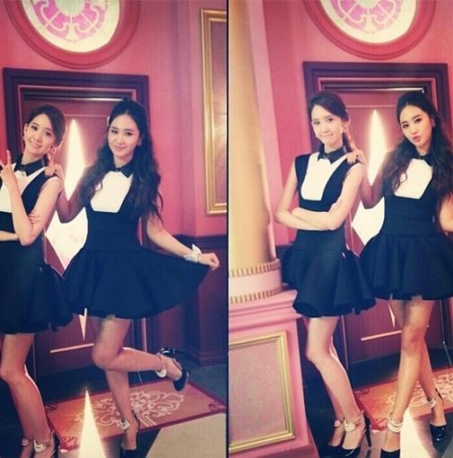 """Yuri khoe hình chụp cùng Yoona và không quên kèm theo lời chúc mừng sinh nhật: """"Yoona à, chúc mừng sinh nhật em nhé! Hãy luôn trưởng thành như vậy nhé"""""""