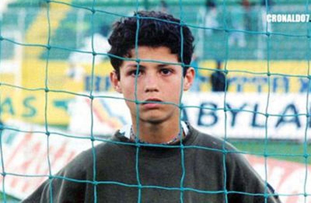 Ronaldo cho thấy sự dũng cảm khi còn là một cậu bé