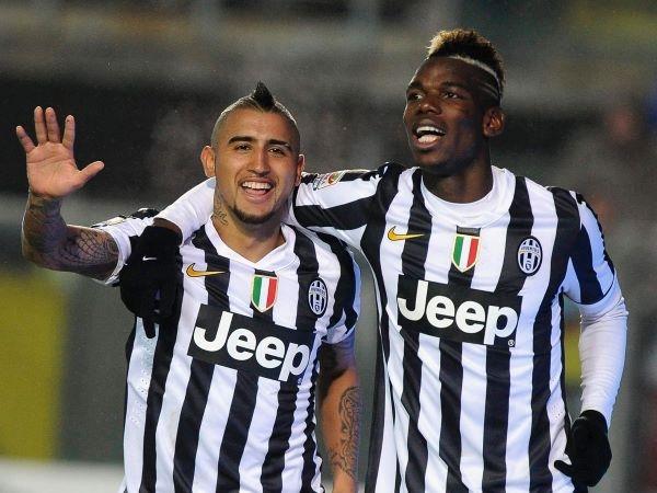 Vidal và Paul Pogba
