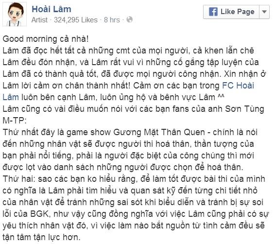 """Sơn Tùng M-TP: """"Hoài Lâm xuất sắc thì Mỹ Linh mới khen"""" - Tin sao Viet - Tin tuc sao Viet - Scandal sao Viet - Tin tuc cua Sao - Tin cua Sao"""
