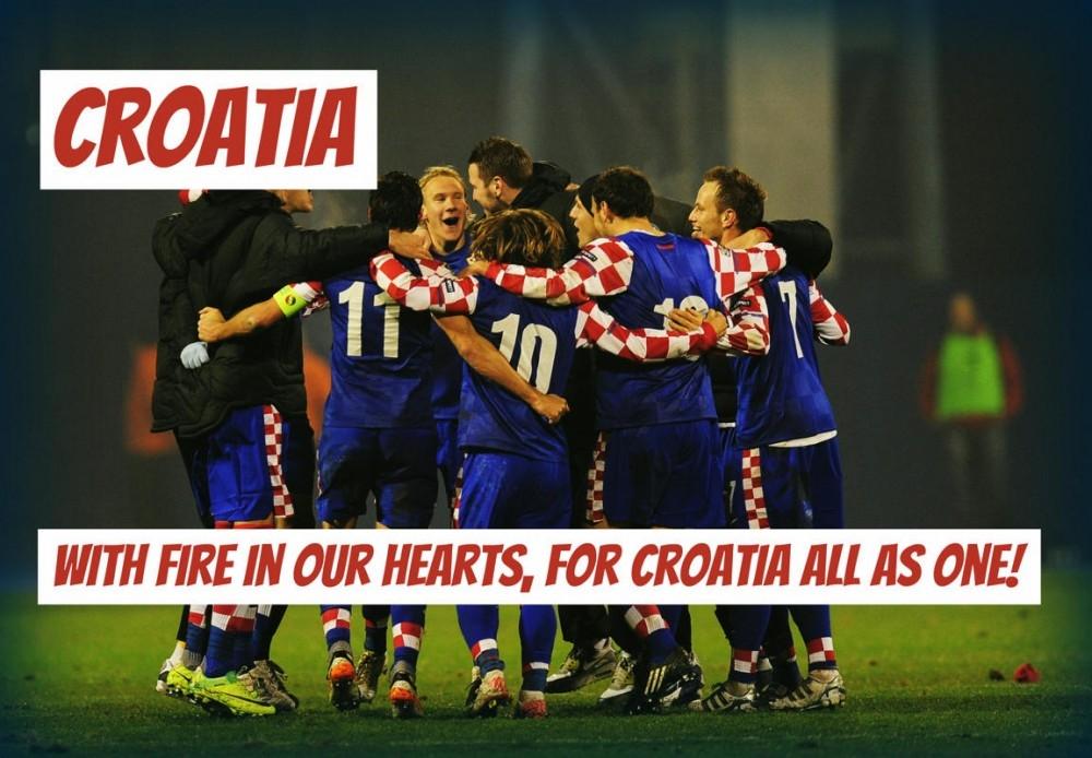 Với lửa trong tim chúng ta, tất cả chúng ta là một vì Croatia!