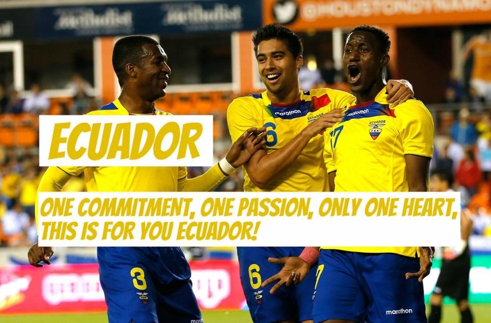 Một cam kết, một đam mê, chỉ một trái tim, nó dành cho bạn – Ecuador!