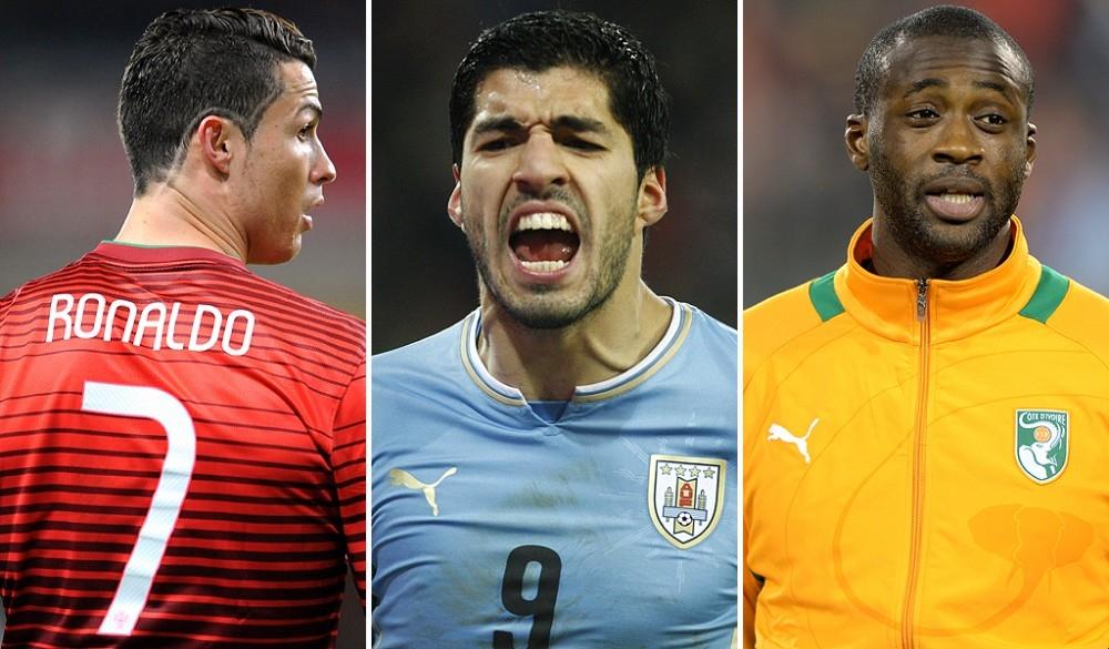 CR7, Suarez và Yaya Toure là những cái tên góp mặt trong đội hình trong mơ World Cup 2014