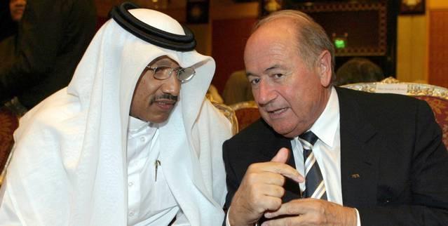 Chủ tịchSepp Blatter và Cựu chủtịch AFCBin Hammam