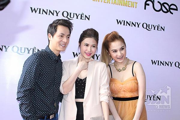 Vợ chồng Đăng Khôi đến chia vui cùng Winny trong ngày ra mắt album đầu tay