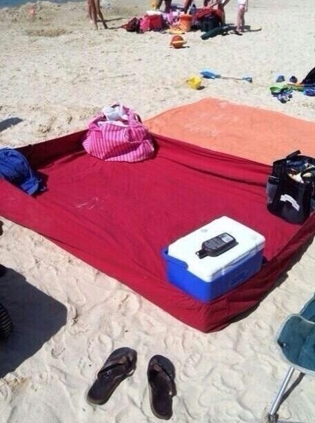 Sử dụng ga trải giường để cát không thể vào bên trong