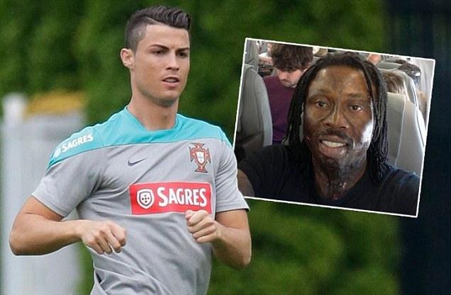 Ronaldo sẽ không thể ra sân cùng Bồ Đào Nha do bị pháp sư người Ghana (ảnh nhỏ) yểm bùa