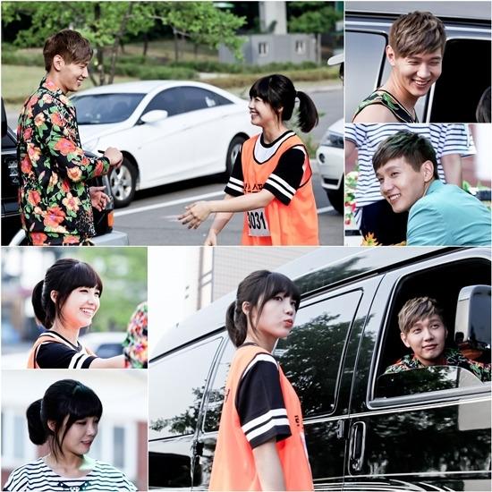 """Eunji và Ji Hyun Woo """"toe toét"""" trên trường quay Trot Lovers"""