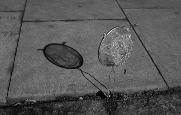 """Độc đáo những bức ảnh """"hình một đằng bóng một nẻo"""""""