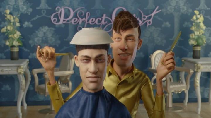 Neymar trở thành thợ cắt tóc
