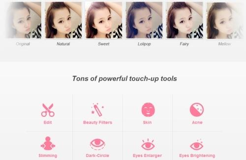 Các phần mềm có bảng màu ảnh phong phú và nhiều công cụ chỉnh sửa như mịn da, to mắt, tẩy mụn, tạo eo thon...